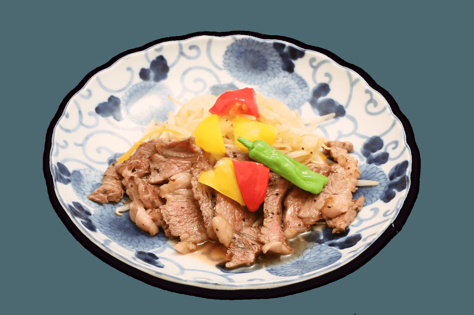 国産牛のステーキ定食