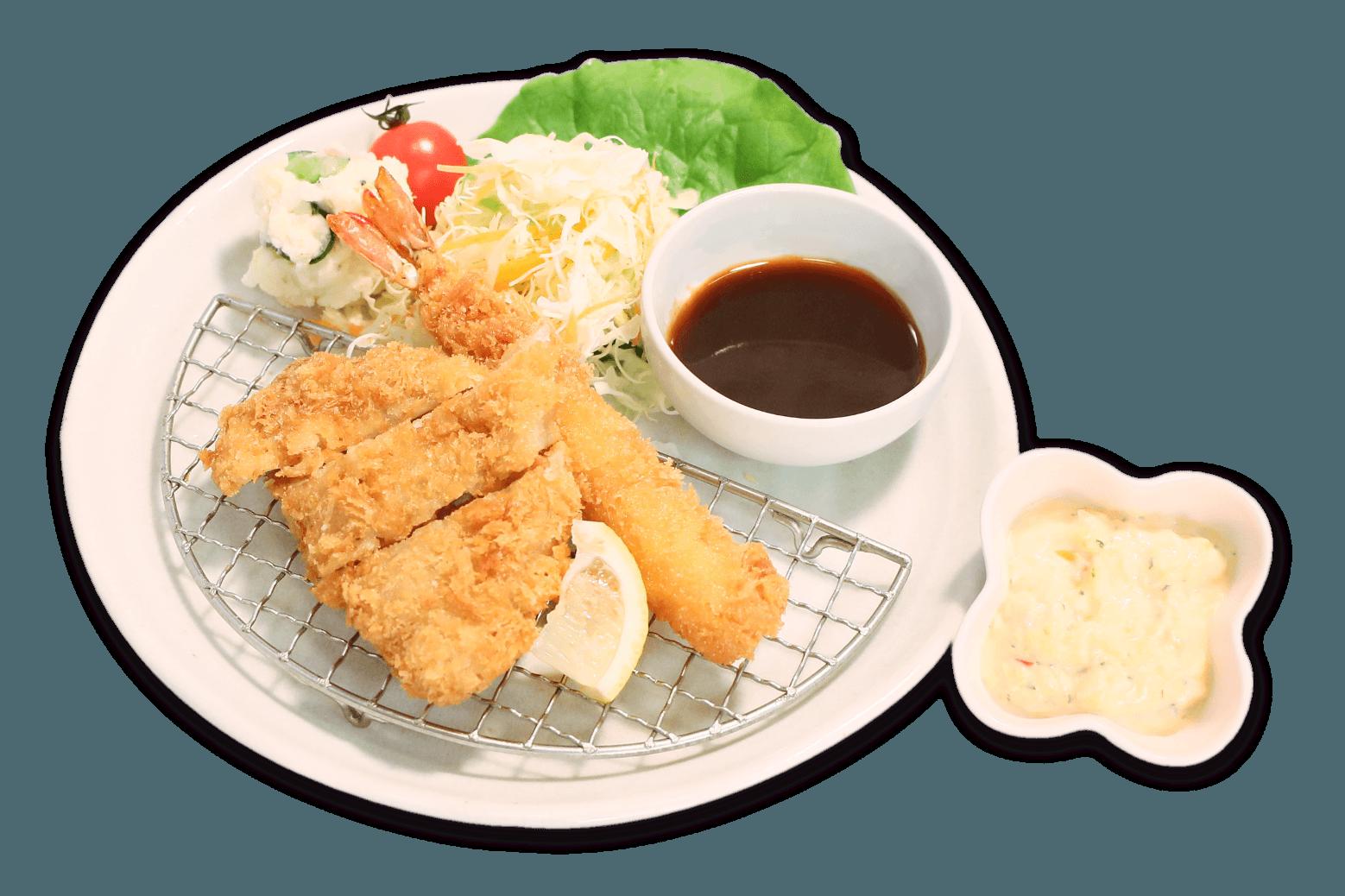 とんかつ&エビフライ定食
